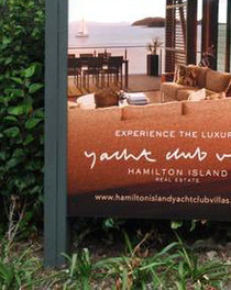 Yacht Club Villas Site Signage